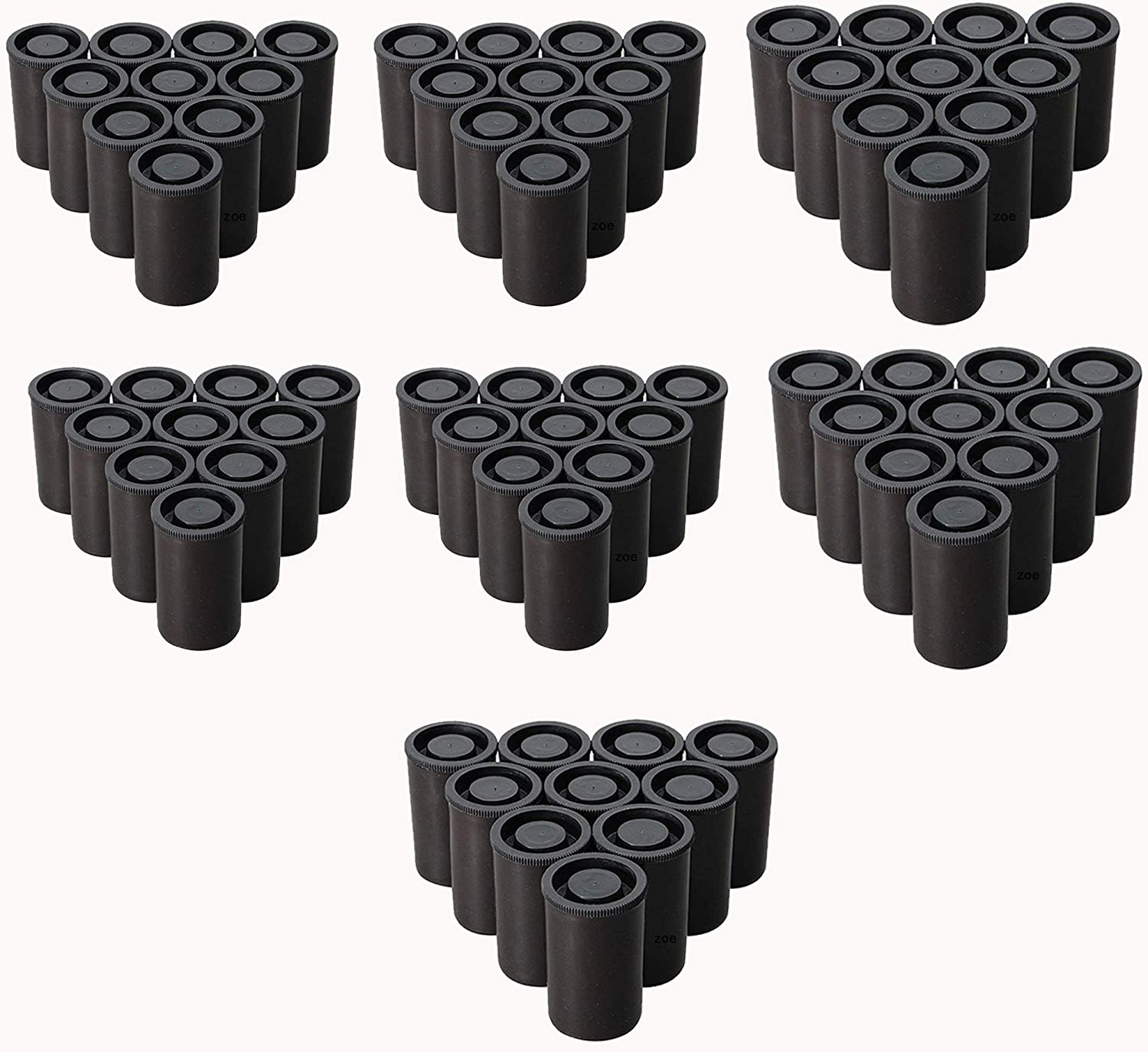 Black Film Canister with Caps for 35mm Film 70 PCS