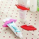 HuaYang presse-fruits en plastique de tube de distributeur de pâte dentifrice de forme de lèvre 2pcs