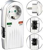 revolt Steckdose Netzfilter: 6in1-Überspannungsschutz für TV, HiFi, LAN & Telefon (Überspannungsschutzstecker)