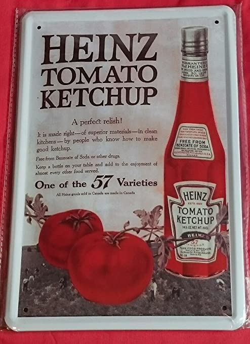 Unbekannt Cartel de Chapa 20 x 30 cm Diseño Kult Ketchup ...
