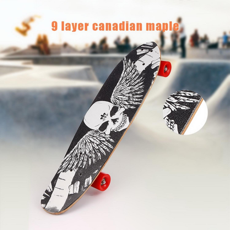 Acecoree Skate de 28 Pouces Cruiser Skate Plateau de Planche à roulettes Complet en Bois Skateboard #1