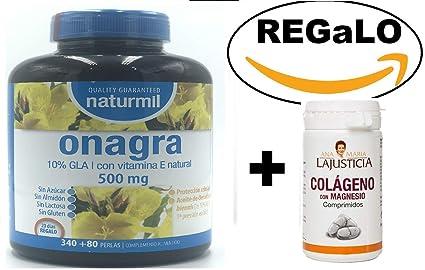 Aceite de Onagra 450 perlas de 510 mg de Obire + Vitamina E, de regalo