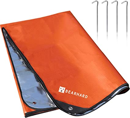 Survival Emergency Blanket Camping First Thermal Waterproof Insulated Tarp XXL