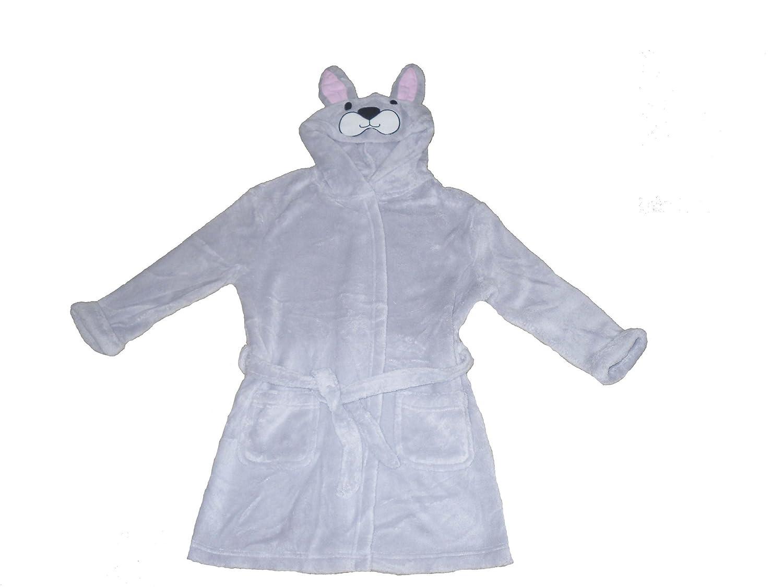 Girls Dressing Gown Robe Nightwear Rabbit Design 4-11 Years