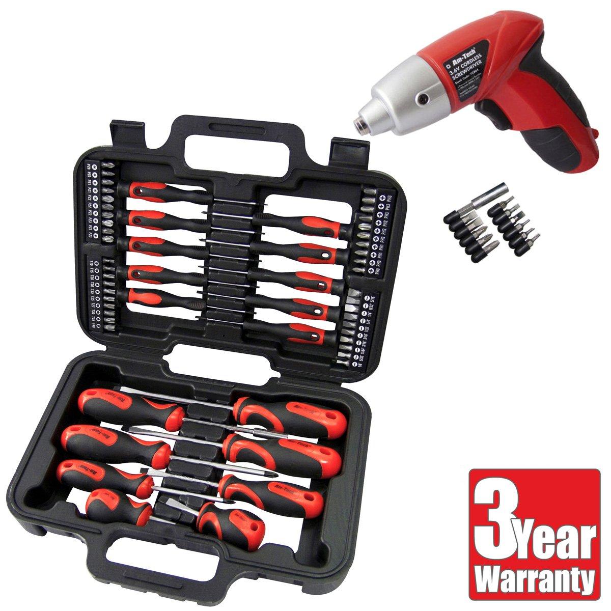 36v Rechargeable Electric Set Amtech 3.6v Cordless Screwdriver Kit