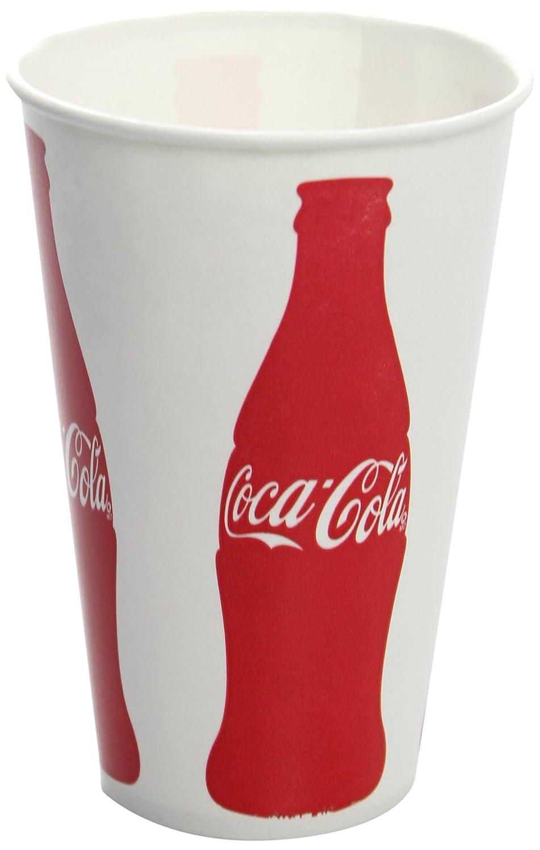 Karat C-KCP12(Coke) 12 oz Paper Cold Cup (84mm Diameter),