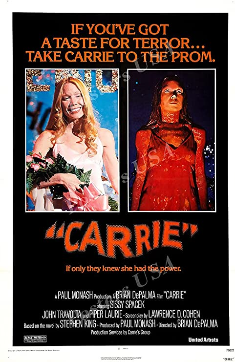 MCPoster FIL825 Carrie 1976 Movie Poster Glossy Finish