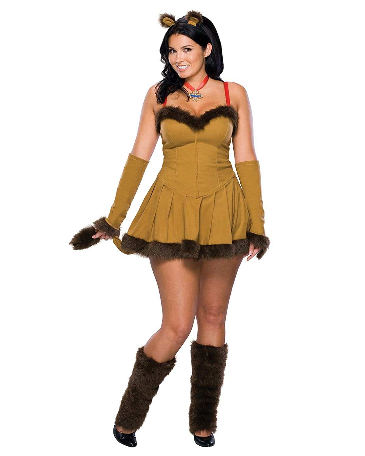 Amazon.com: Wizard Courageous Lion Movie Costume Sexy Animal ...