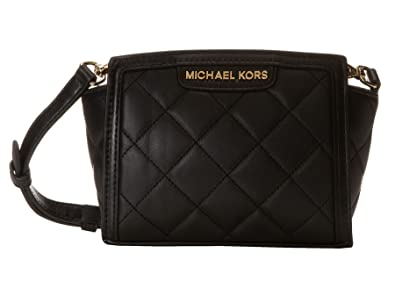 645e98aecf3772 Image Unavailable. Image not available for. Color: Michael Michael Kors  Selma Quilt Mini Messenger Black