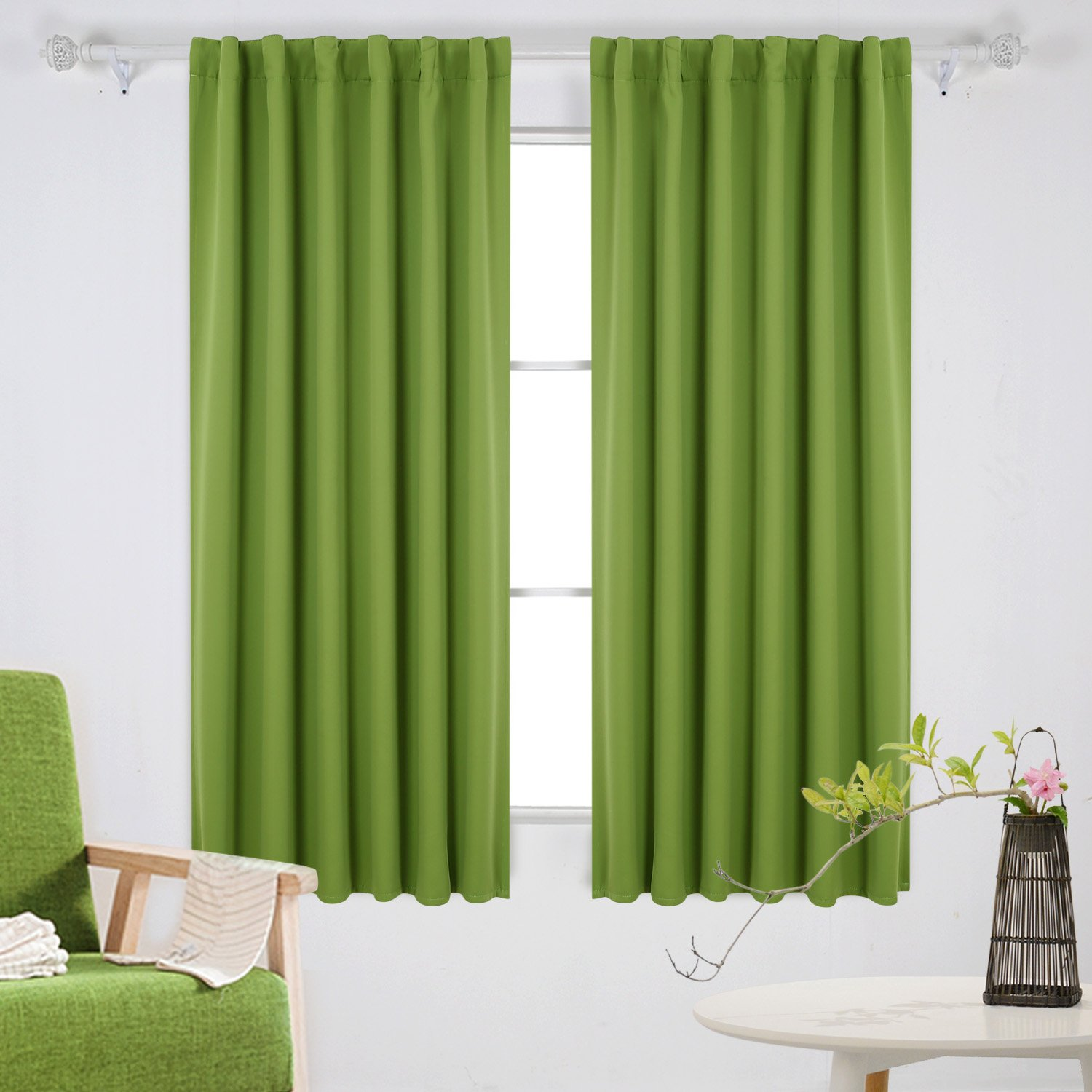 Deconovo Thermal Insulated Blackout Curtains Rod Pocket and Back Tab Curtains Room Darkening Curtains