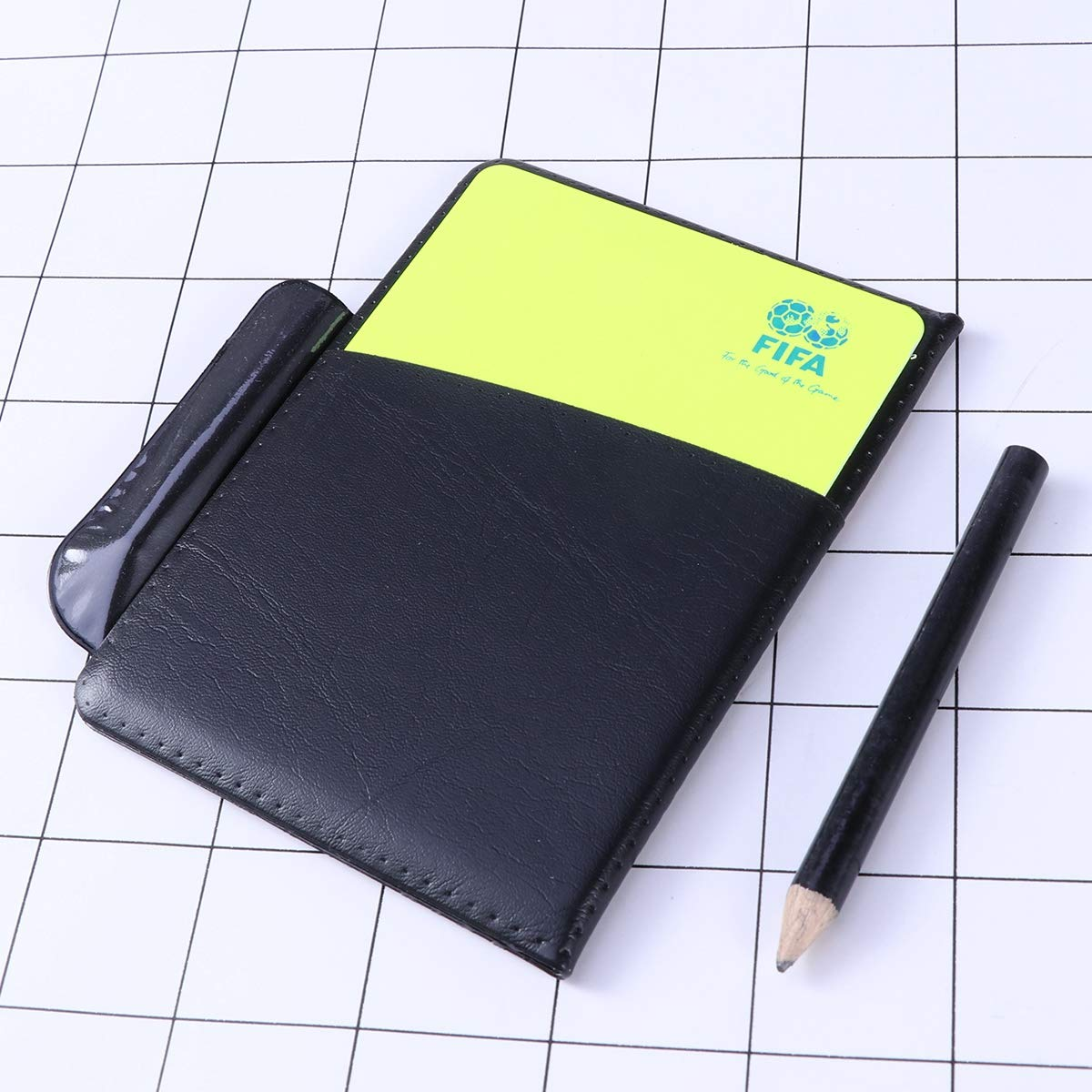 LIOOBO Soccer referee card set referee warning cards and pencil and leather cover referee kits for game sports