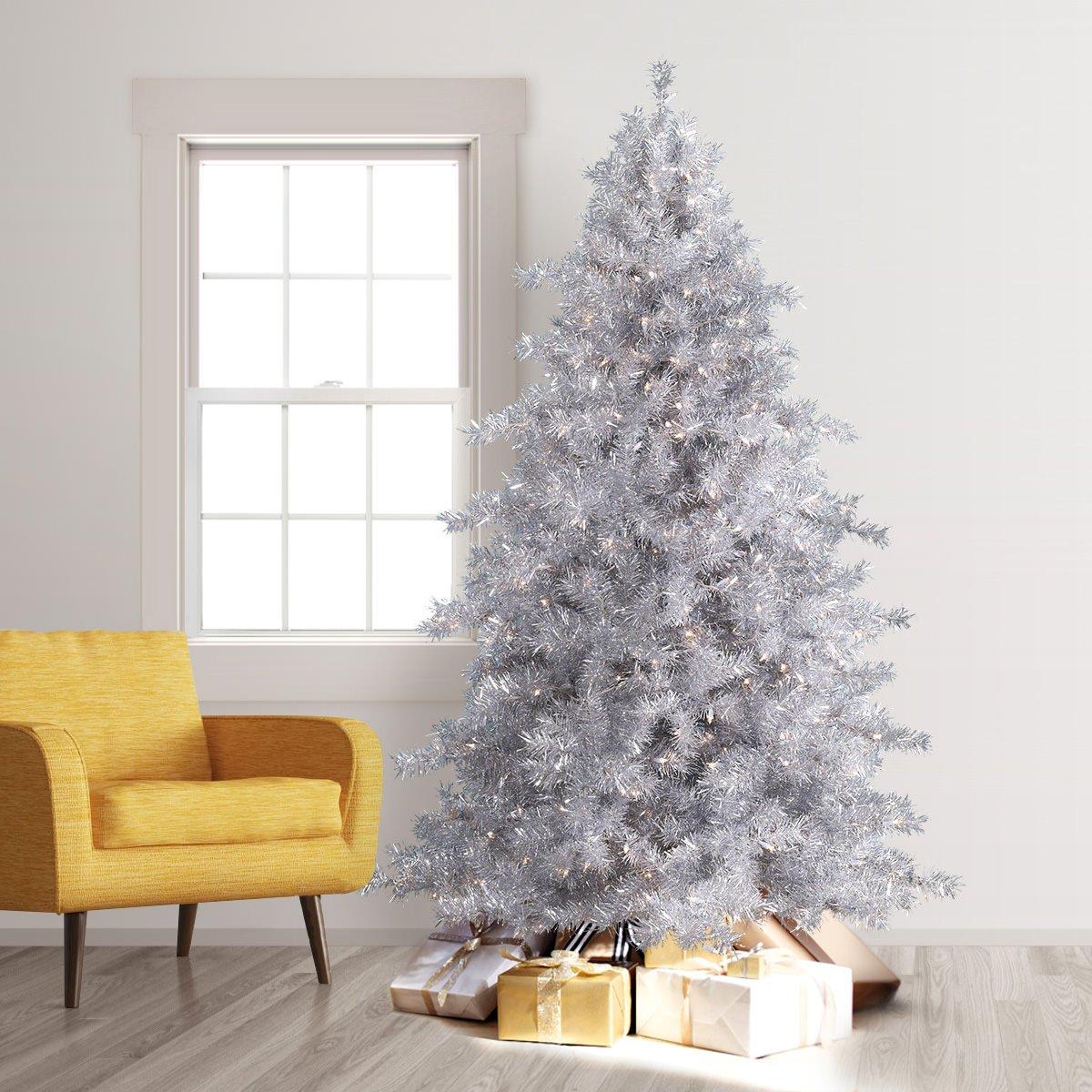 Amazoncom Treetopia Tinkerbell Silver Tinsel Artificial Christmas