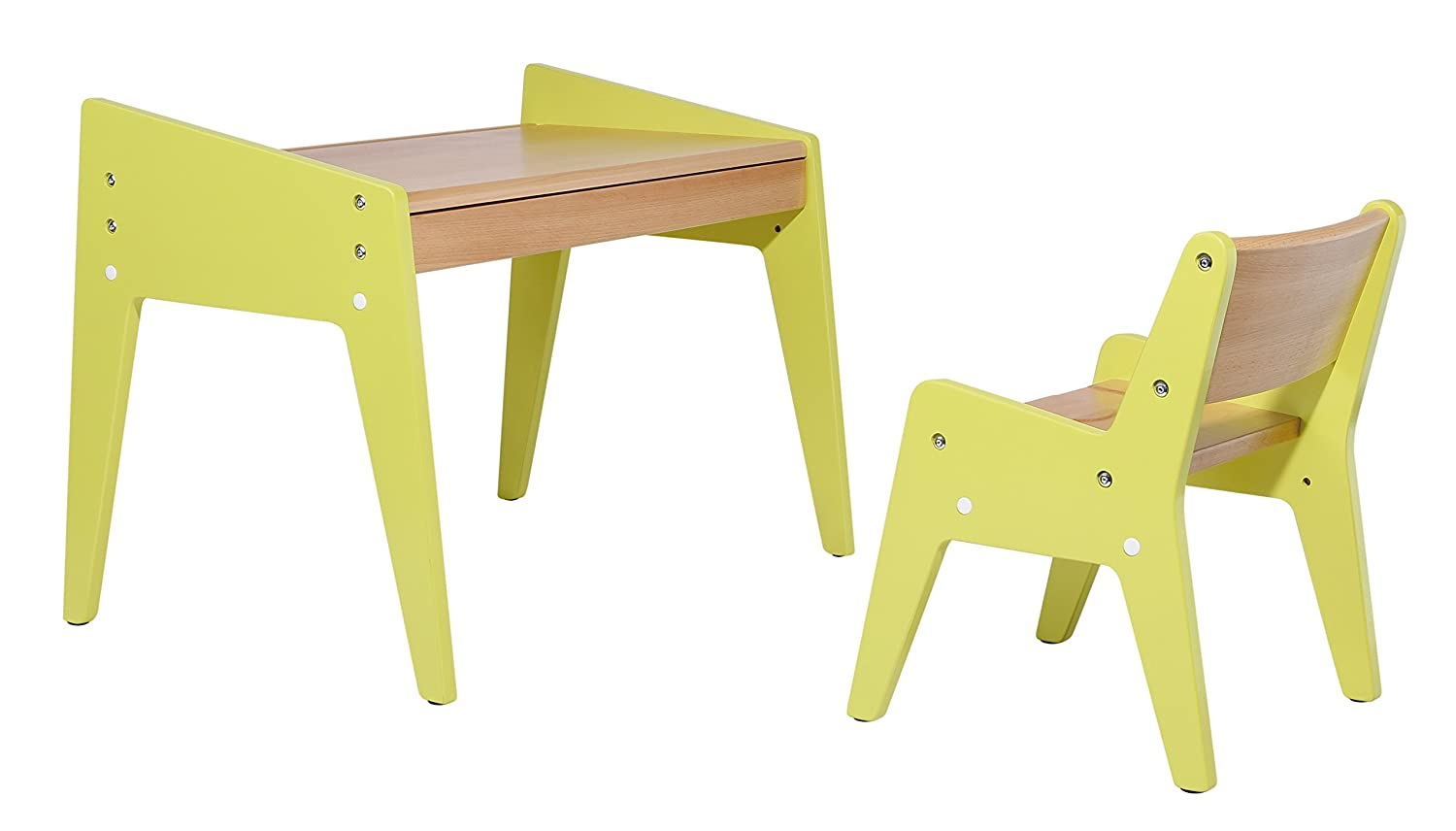 Wymo My First Adjustable Desk and Chair for Little Kids from 1 to 3 Years Old