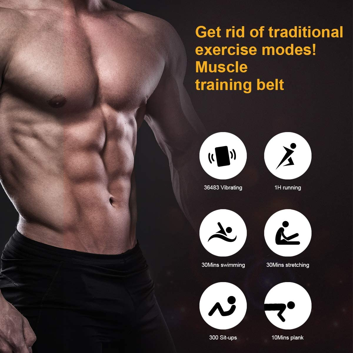 JoJoMooN ABS Toning Training Belt, Muscle Toning Waist Trimmer Equipment Abdominal for Men & Women, Abs Fitness Belt Work Out Power Abs Muscle Training Gear : Sports & Outdoors