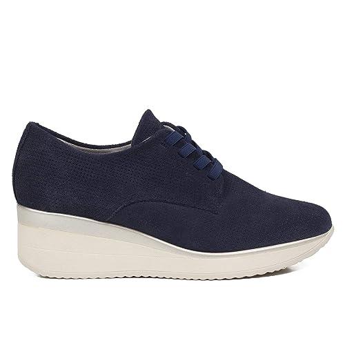 b77b78f8 Zapatos Piel Mujer Hechos EN ESPAÑA. Blucher Mujer. Zapatos Cuña Mujer.  Zapato Derby Cómodo Mujer con Plantilla Memory Foam: Amazon.es: Zapatos y  ...