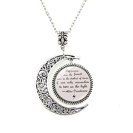 Amazon moon pendant inspirational pendants necklace albus moon pendant inspirational pendants necklace albus dumbledore quote jewelry gift for friends aloadofball Image collections