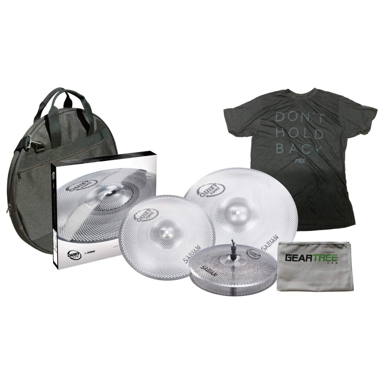 Sabian QTPC502 Quiet Tone Cymbal Pack w/ 13'' Hi Hats, 14'' Crash, 18'' Crash Ri by Sabian