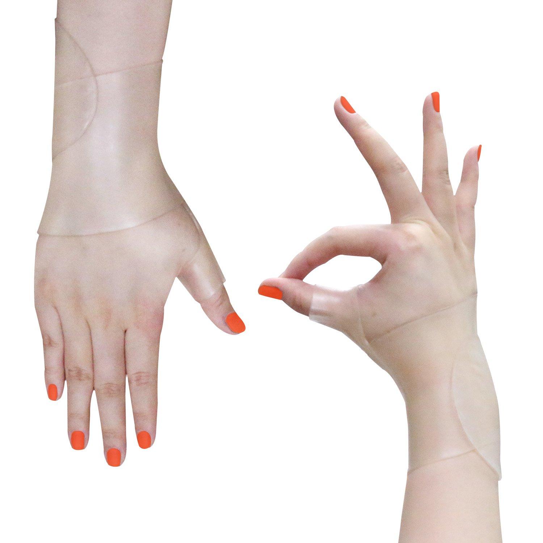 Wrist Brace Carpal Tunnel Gel Wrist Thumb Support Braces Stretchable Washable Thumb Wrist Support Glove for Tenosynovitis, Typing, Wrist Thumb Pain, Arthritis, Rheumatism (1 Pair) by Healthy Harbor (Image #6)