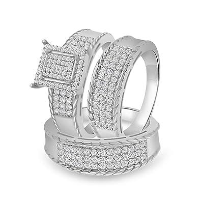 Buy Craft On Jewelry Round Simulated Diamond Cz His Her