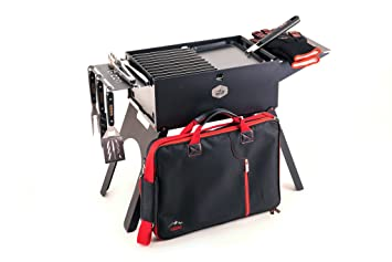 Gizzo Outdoor Barbacoa de carbón Juego BBQ – Little-Presents – Parrilla Plegable Plegable con