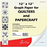 Sew Easy ER399 | Quilters Graph Paper Pad 8in/4in Squares | 12 x 12in 25 sheets
