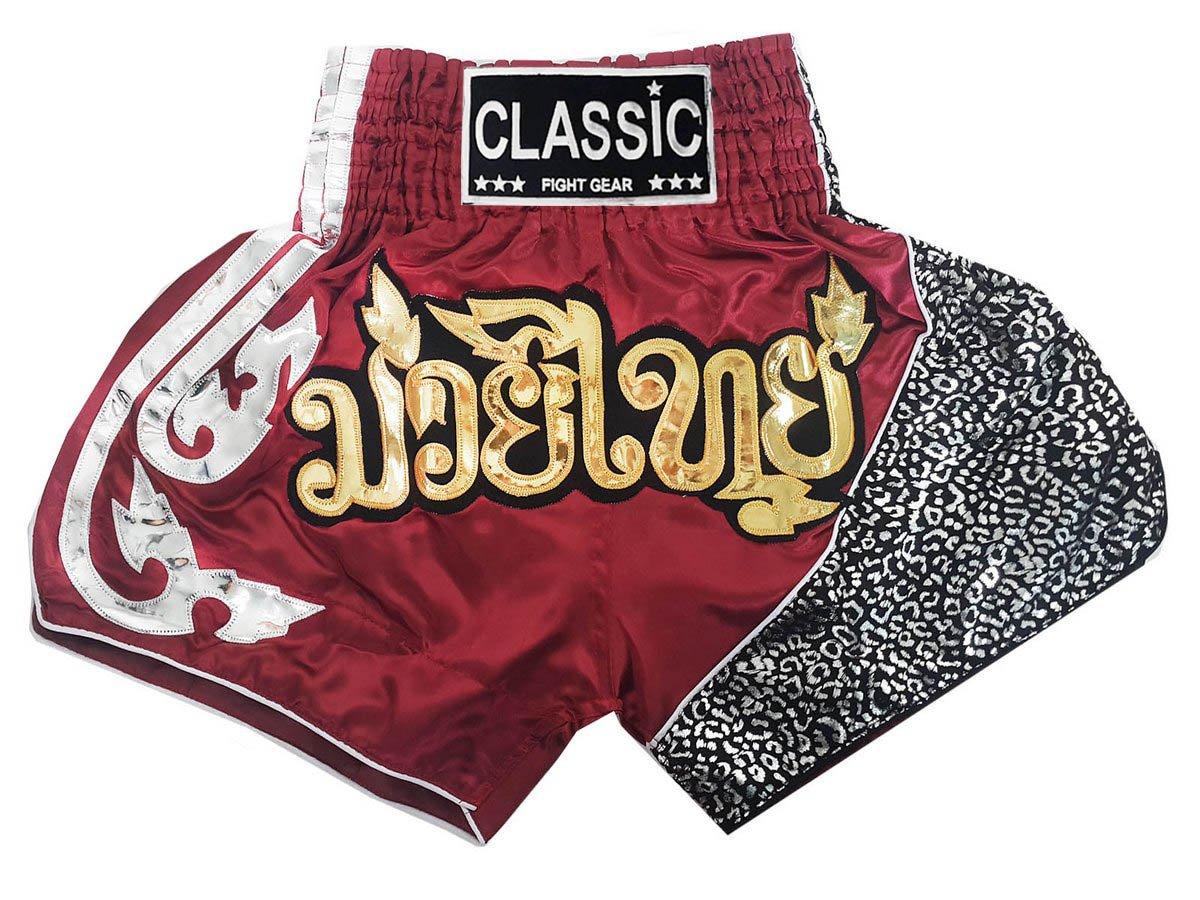 Classic Muay Thai Kick Boxing Shorts : CLS-105-Black