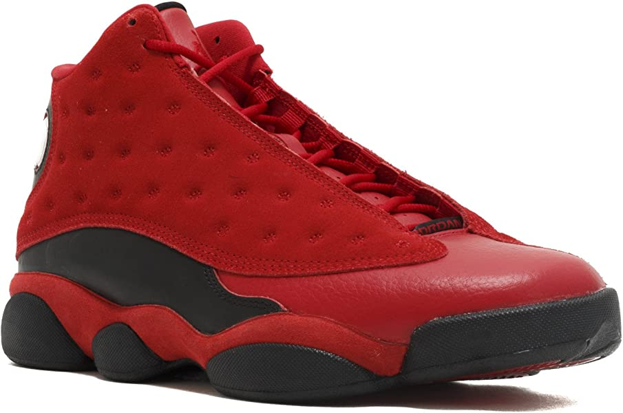 sports shoes 8a230 4b74f Amazon.com   AIR JORDAN MEN S Air Jordan 13 Chinese Singles Day Sneakers  RED 888164-601 SIZE US8.5   Basketball