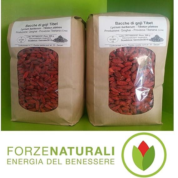 Bayas de goji grandes (220/50) 1 kg (2 paquetes de medio kg)