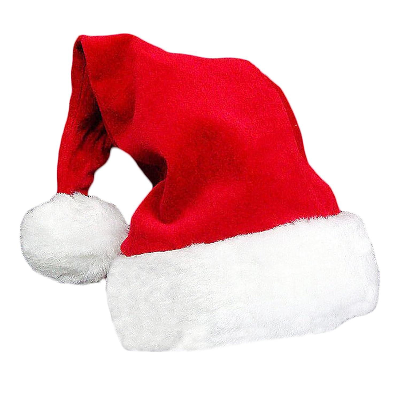 Christmas Fancy Dress Fluffy Plush Santa Hat