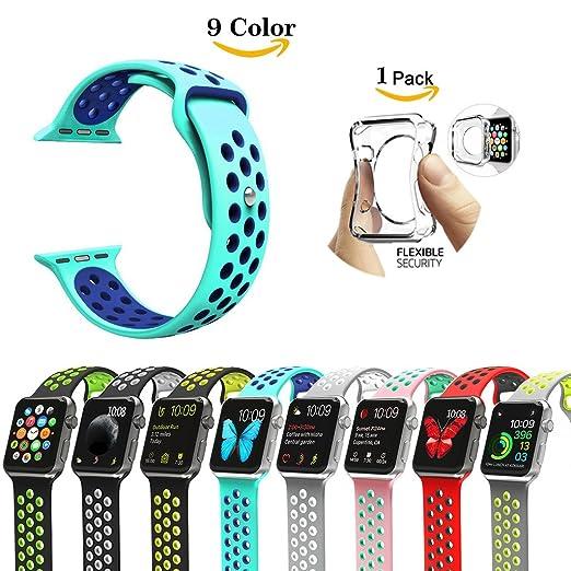 2 opinioni per Chok idea Apple Watch cinturino da polso, [con custodia in TPU trasparente],