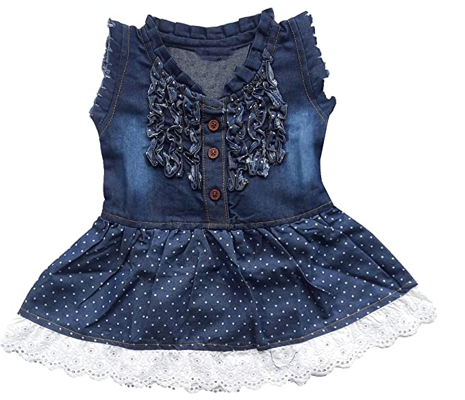 3016ff5c615 BabyMart Baby Girl s Soft Denim Frock Middy Dress (Blue