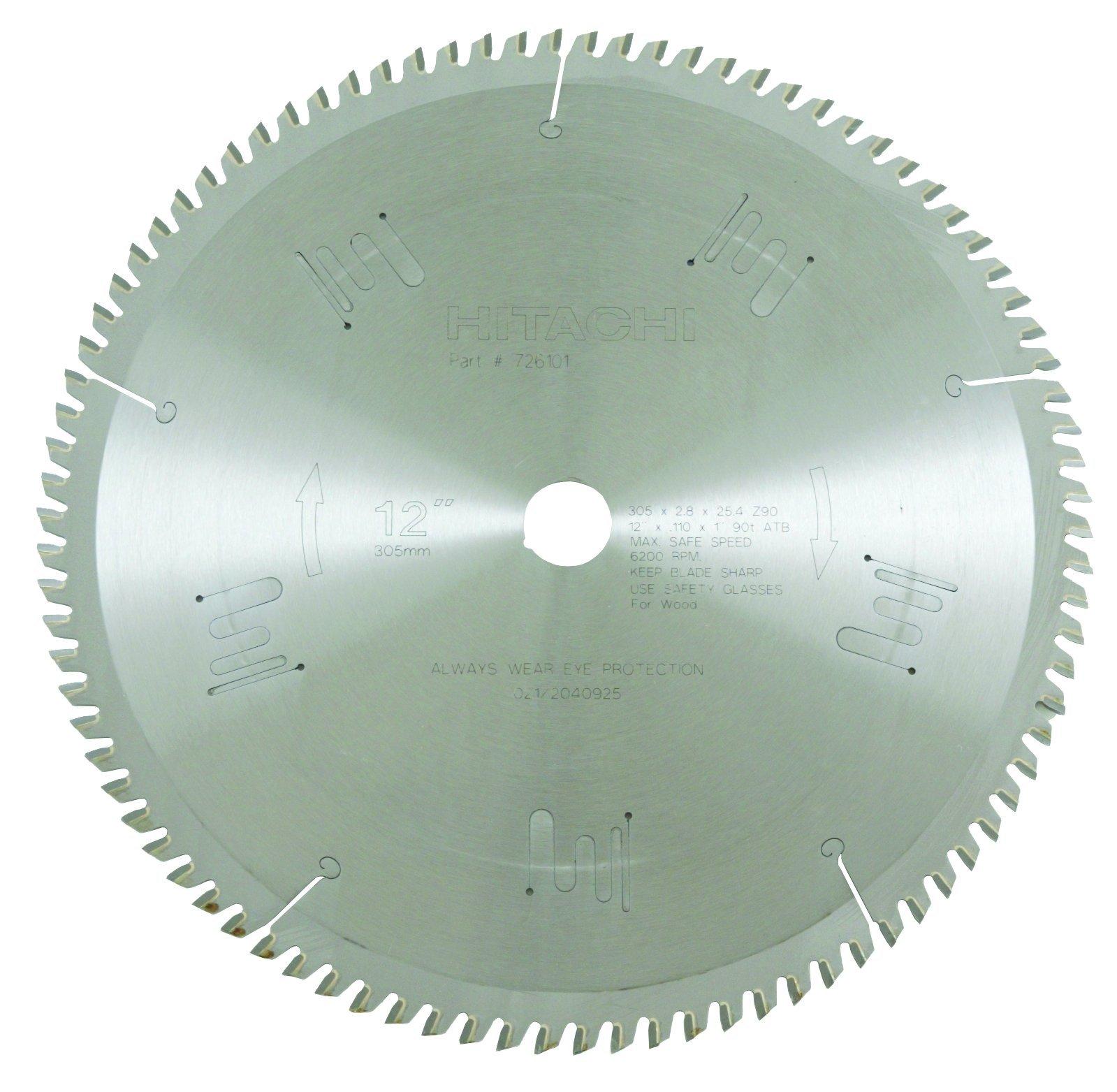 Hitachi 726101 90-Teeth Tungsten Carbide Tipped 12-Inch ATB 1-Inch Arbor Finish Saw Blade by Hitachi