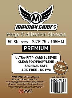 Mayday Mega Civilization Sleeves (75x105mm) - 100 Standard Sleeves: Amazon.es: Juguetes y juegos