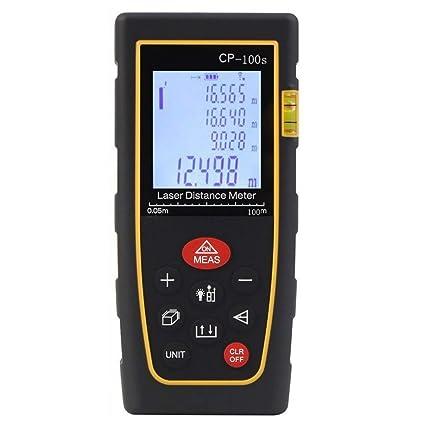 Rebzar CP-40, (0.05 to 40 meters/ 131 ft) Laser Rangefinder/Distance Measuring Meter - Portable Measuring Device,Area/Volume/Distance/Pythagoras Calculation,Measurement Memory Recall,