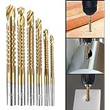 Xilko 6Pcs Countersink Drill Bit Power Tools Speed Out Metal Titanium Coated HSS Twist Drill Bits Set Saw Metal Drilling