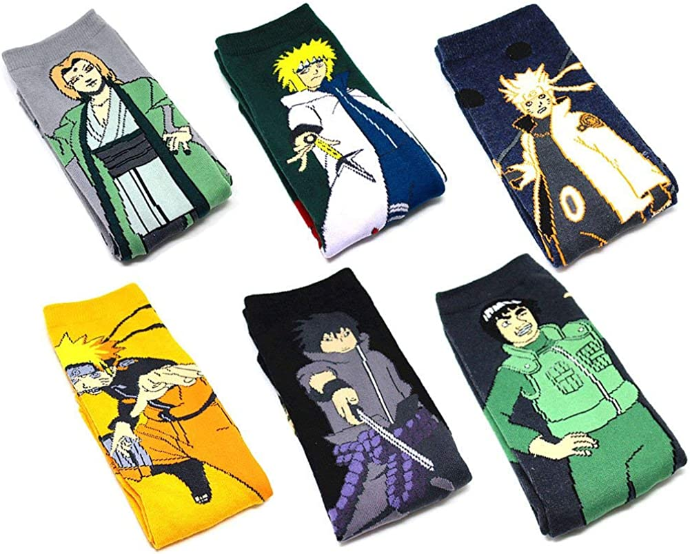 Style 04 Yuxareen Unisex Naruto Lange Baumwollsocke Anime Art Socke Cosplay Akatsuki Madara