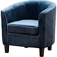 Sofa Collection Panama Velvet Fabric Tub Chair/Armchair Seating - 6 Colours Available