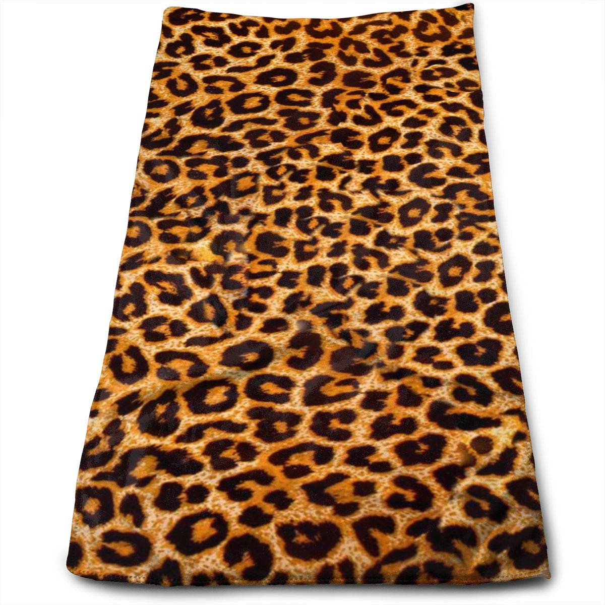 QiFfan22 Leopard Print.jpg Kitchen Towels - Dish Cloth - Machine Washable Cotton Kitchen Dishcloths,Dish Towel & Tea Towels for Drying,Cleaning,Cooking,Baking (12 X 27.5 Inch)