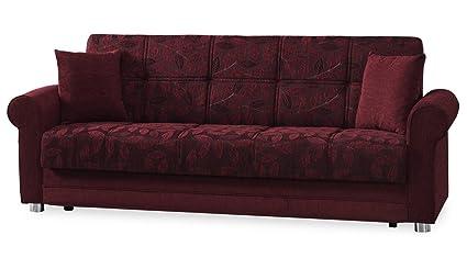 Attractive Casamode Rio Grande Sofa Bed Burgundy Chenille