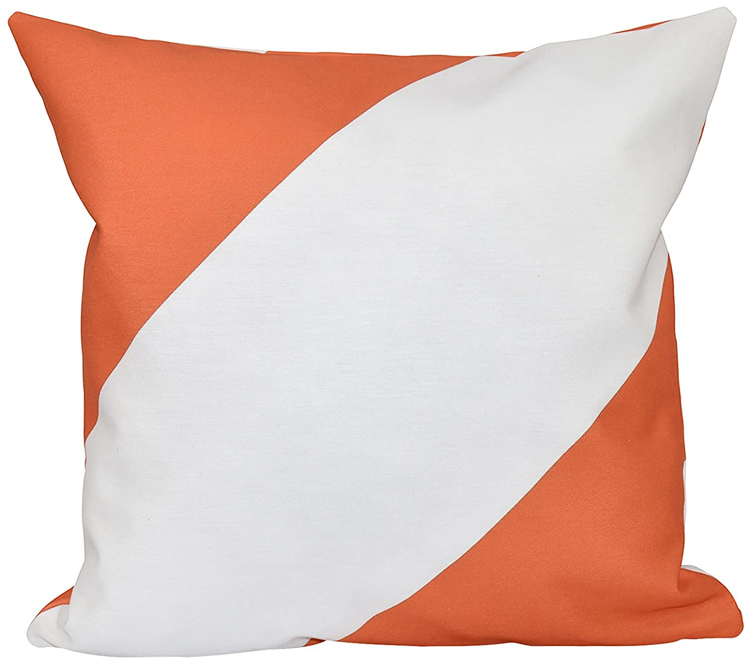 E by design Decorative Pillow Celosia Orange