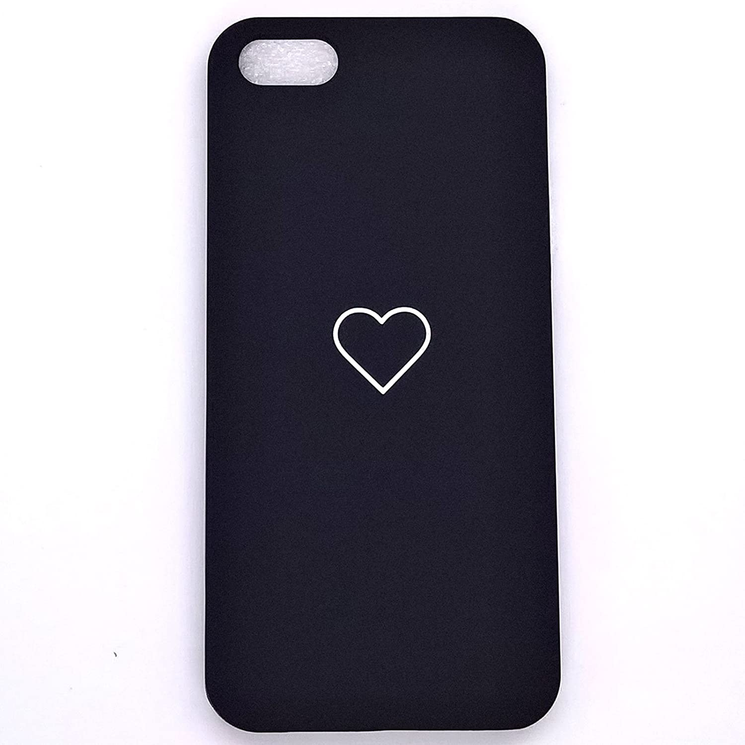 """Apple iPhone 6s Case, iPhone 6 Case Luxury Cute Heart Shockproof Slim PC Phone Case Cover Skin for iPhone 6s iPhone 6 (Black, iPhone 6s 6 4.7"""")"""