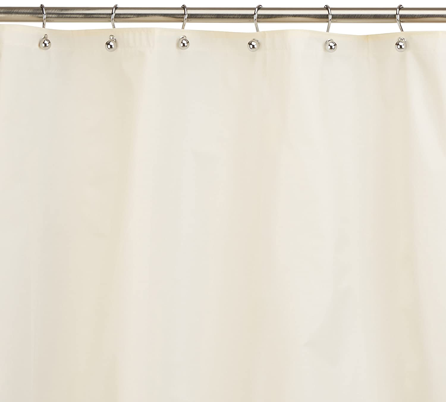 Carnation Home Fashions 10-Gauge PEVA 72 by 72-Inch Shower Curtain Liner, Standard, Ivory SCEVA-10/08