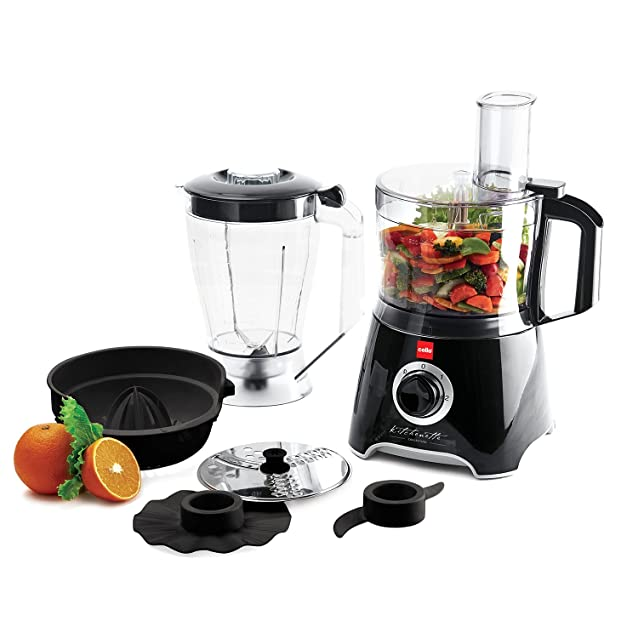 Cello Kitchen Chef KC-FP-200 500-Watt Food Processor (Black and white) Food Processors at amazon