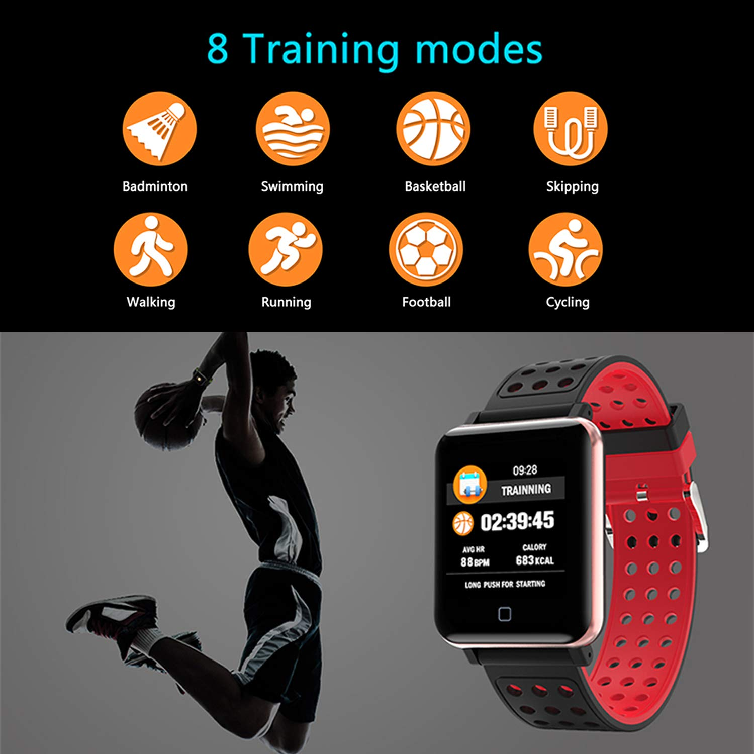 PTHTECHUS Smartwatch Fitness Tracker -1.3 Reloj Inteligente IP67 ...