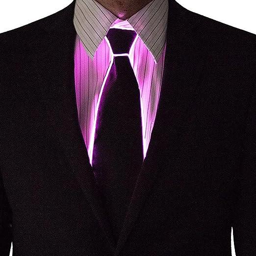 Onerly Corbata Luminosa Decorativa de 10 Colores EL Corbata LED ...