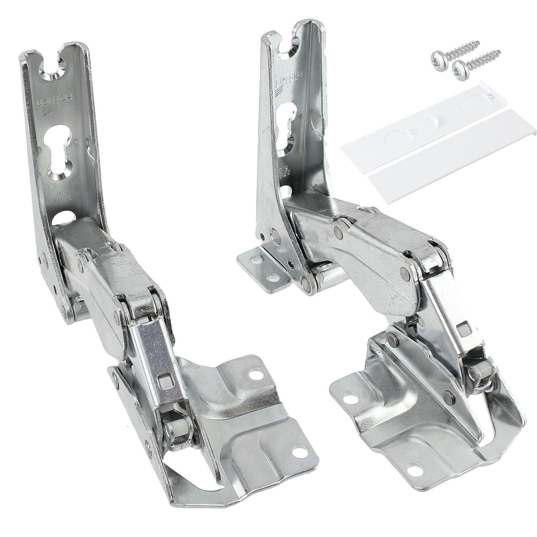 SPARES2GO Hettich Type Integrated Door Hinges Fridge Freezer Set (Left & Right Hinges with Codes: 3306 3702 3307 3703 5.0 41.5)