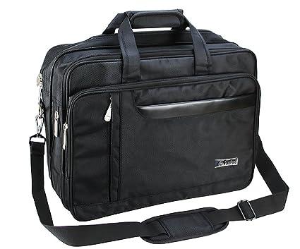 De hombre Classic Carry-All negocio maletín expandible bolso bandolera para ordenador portátil de 15.6