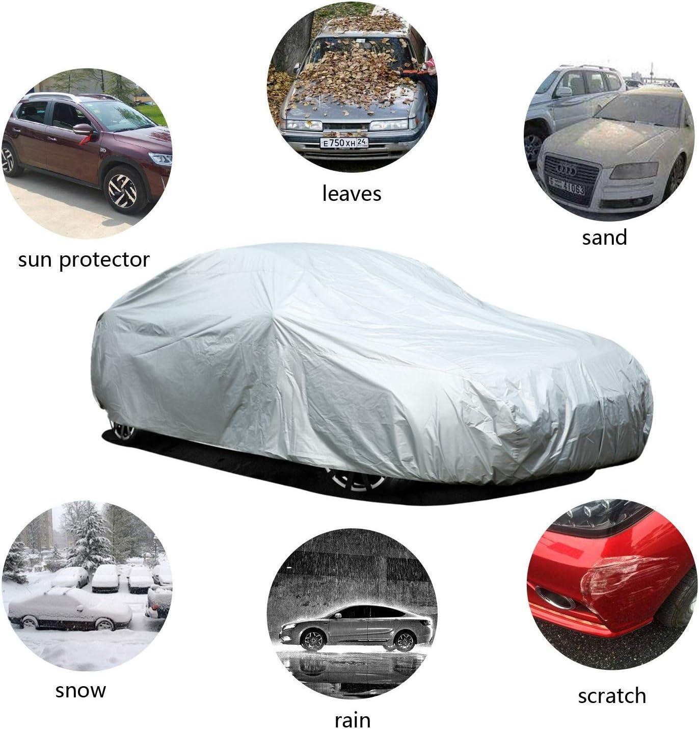 Ohuhu Autoabdeckung Vollgarage Abdeckplane Auto Garage Staubdicht Wasserdicht Autoh/ülle Autoplane Winter /& Sommer f/ür S/änfte Limousine