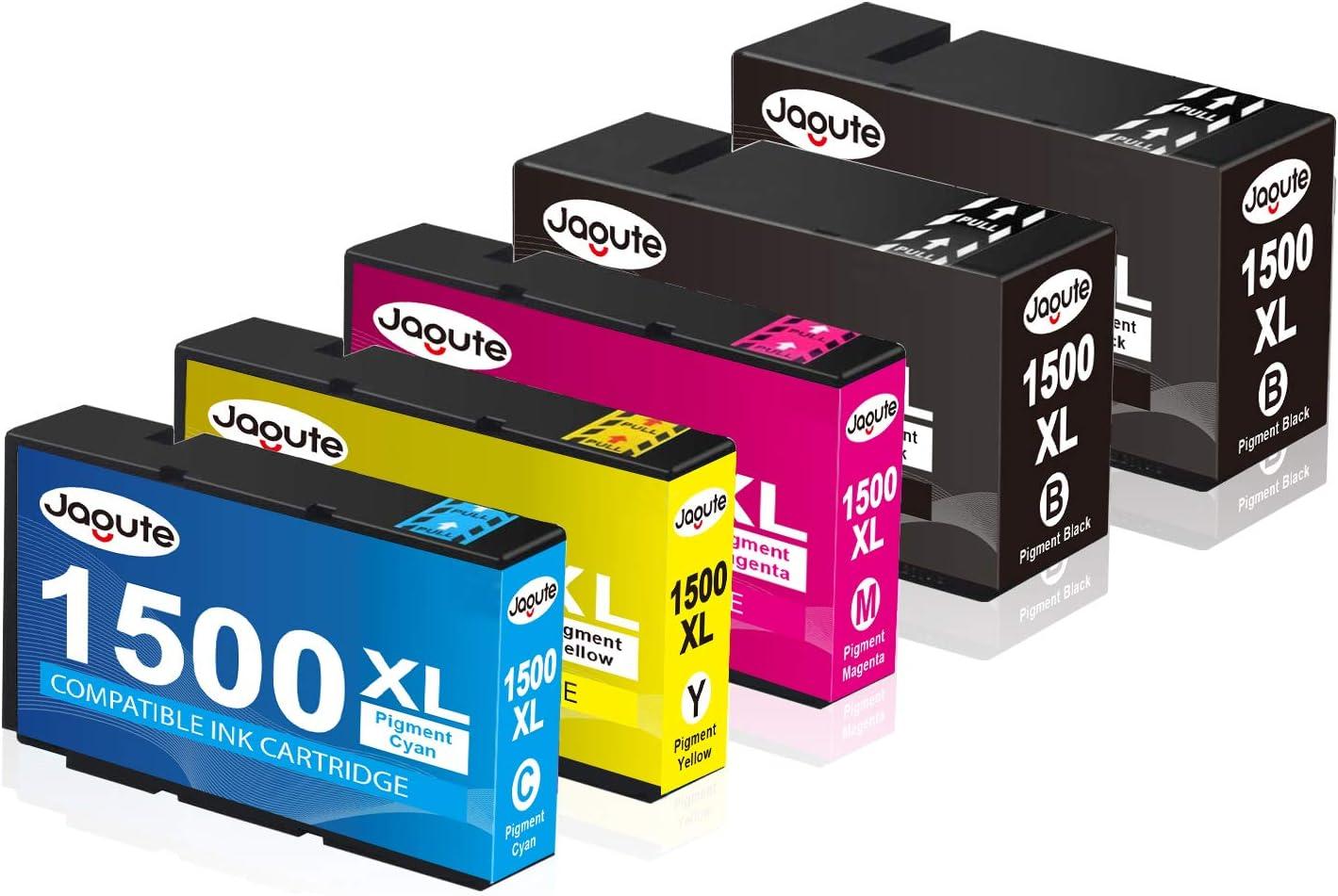 Jagute Ersatz Für Canon Pgi 1500xl Pgi 1500 Druckerpatronen Für Canon Maxify Mb2000 Mb2050 Mb2150 Mb2155 Mb2300 Mb2350 Mb2750 Mb2755 5er Pack 2 Schwarz 1 Blau 1 Rot 1 Gelb Bürobedarf Schreibwaren