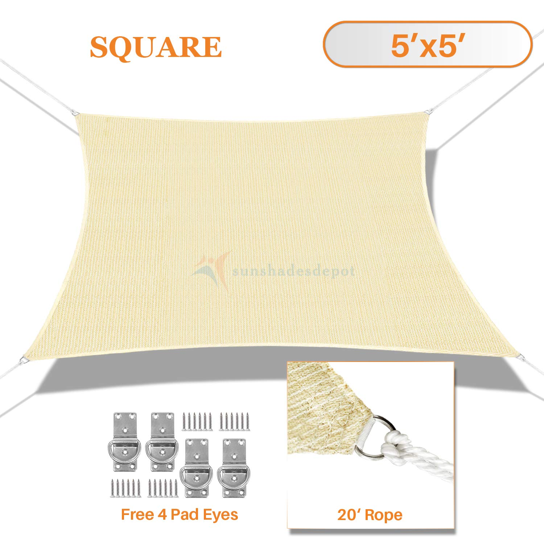 Amazon Com Sunshades Depot 5 X 5 Sun Shade Sail Square Permeable